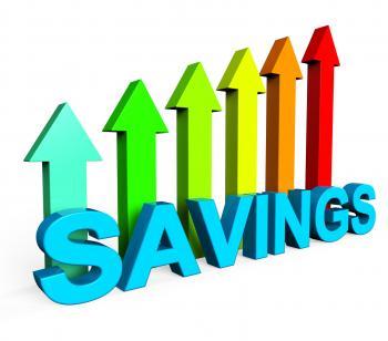 Savings Increasing Indicates Financial Report And Advance