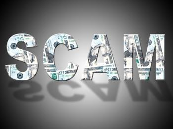Scam Dollars Shows United States And American