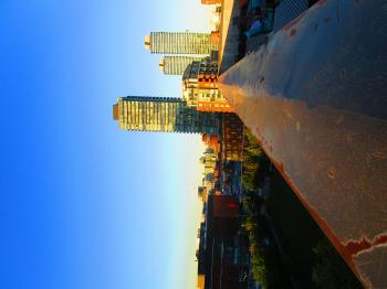 Scanning Toronto's skyline, at dusk B -i