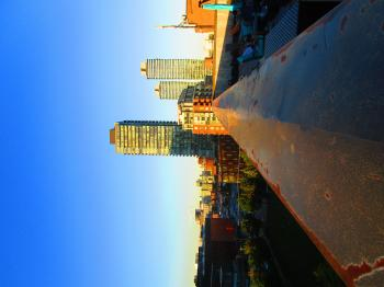 Scanning Toronto's skyline, at dusk B -j