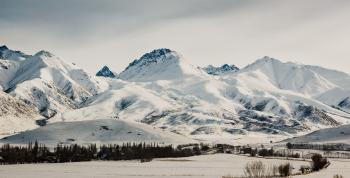 Scenic View of the Mountains During Winter