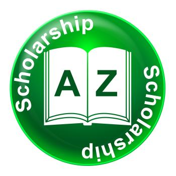 Scholarship Badge Means Diploma Educational And Academic