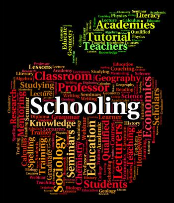Schooling Word Shows Study Schools And Education
