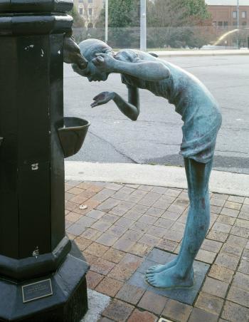 Sculpture Drinking Water