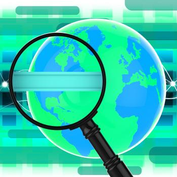 Search Internet Indicates World Wide Web And Analysis