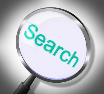 Search Magnifier Means Gathering Data And Magnification