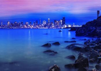 Seashore Photo With Skyscraper Builings