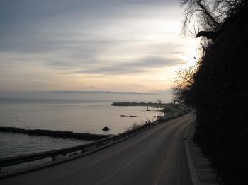 Seaside road in Varna, Bulgaria