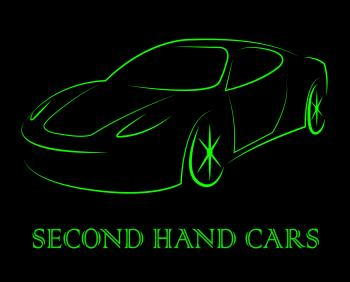 Second Hand Cars Means Used Transport And Old