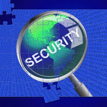 Security Magnifier Represents Restricted Searches And Magnifying