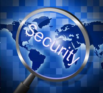Security Magnifier Represents Secured Research And Searches