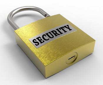 Security Padlock Represents Secure Privacy 3d Rendering