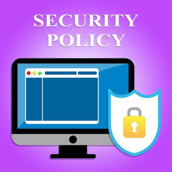 Security Policy Represents Privacy Agreement And Computers