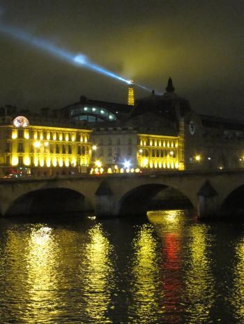 Seine at night