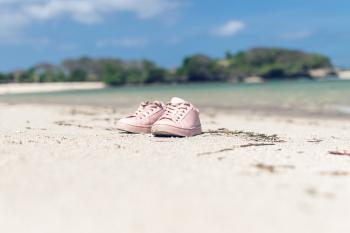 Selective Focus of Pink Low-top Sneakers