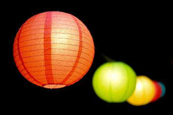 Selective Focus Photo of Paper Lanterns