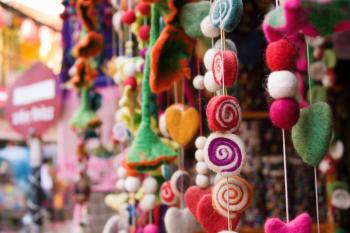 Selective Focus Photography of Assorted-color Hanging Decor Lot