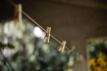 Selective Focus Photography of Clothes Hanger Clip