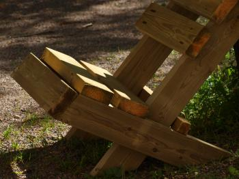 Selfmade wooden chair