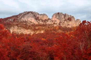 Seneca Rocks - Autumn Red HDR