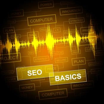 Seo Basics Shows Search Engine And Business