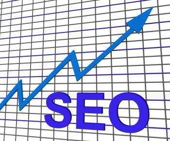 SEO Chart Graph Shows Increase Search Engine Optimization
