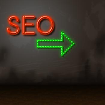 Seo Neon Represents Glow Search And Engine