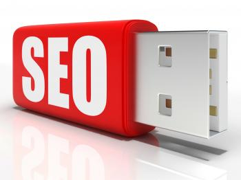 SEO Pen drive Shows Search Engine Optimization Or Management