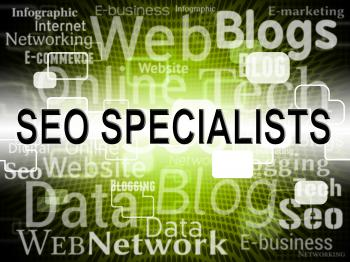 Seo Specialist Represents Search Engine And Expertise