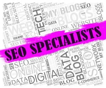 Seo Specialists Means Search Engine And Experts