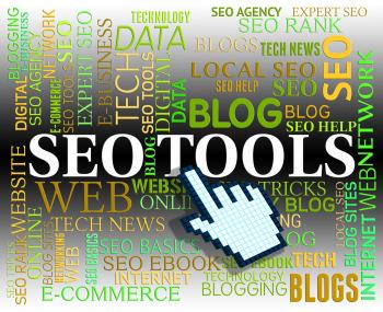 Seo Tools Shows Search Engine And Apps