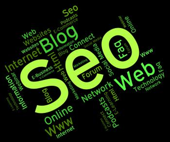 Seo Word Means Website Words And Engine