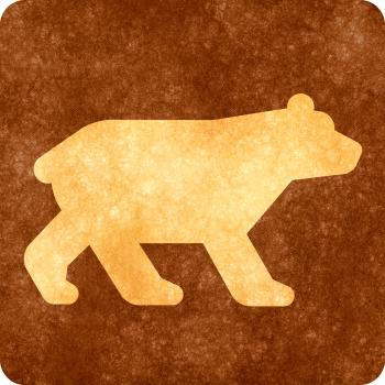 Sepia Grunge Sign - Bear Viewing