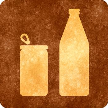 Sepia Grunge Sign - Can and Bottle