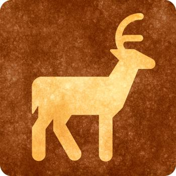 Sepia Grunge Sign - Deer Viewing