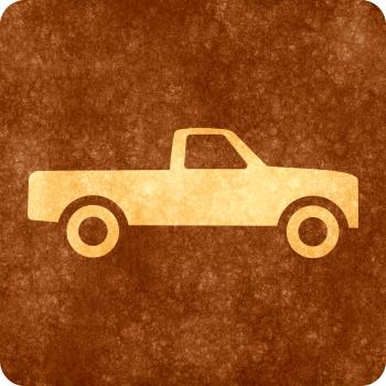 Sepia Grunge Sign - Pick-up Truck