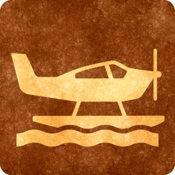 Sepia Grunge Sign - Sea Plane