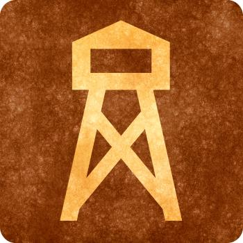 Sepia Grunge Sign - Watch Tower