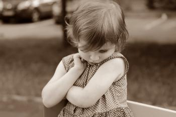 Sepia Photography of Girl in Polka Dot Dress