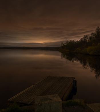 Sepia Photography of Lake