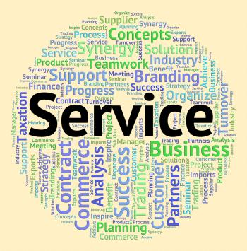 Service Word Means Help Desk And Advice