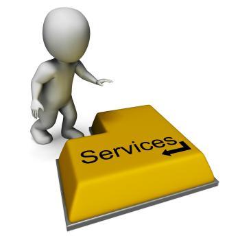 Services Button Shows Assistance Or Maintenance