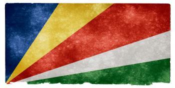 Seychelles Grunge Flag
