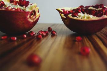 Shallow Focus of Sliced Fruits With Seeds