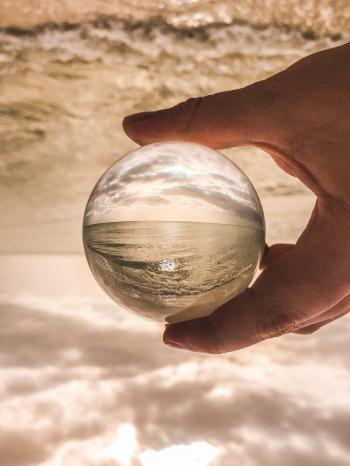 Shallow Focus Photo Of Glass Ball