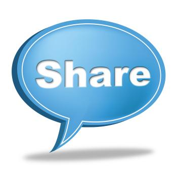 Share Speech Bubble Means Social Media And Follower