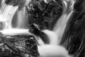 Shelving Rock Stream - Black & White HDR