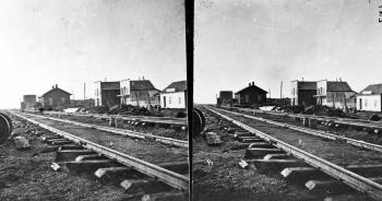 Sherman Station, summit of Black Hills. Albany County, Wyoming. 1869.