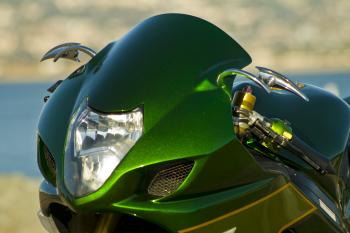 Shiny Green Motorcycle