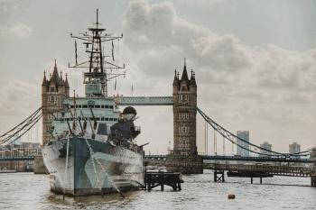 Ship Sailing on Tower Bridge